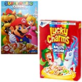 Super Mario Cereal, 8.4 Ounce Bundled With Lucky Charms With Magical Unicorn Marshmallows