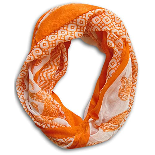 Peach Couture Womens Henna Print Infinity Loop Scarves