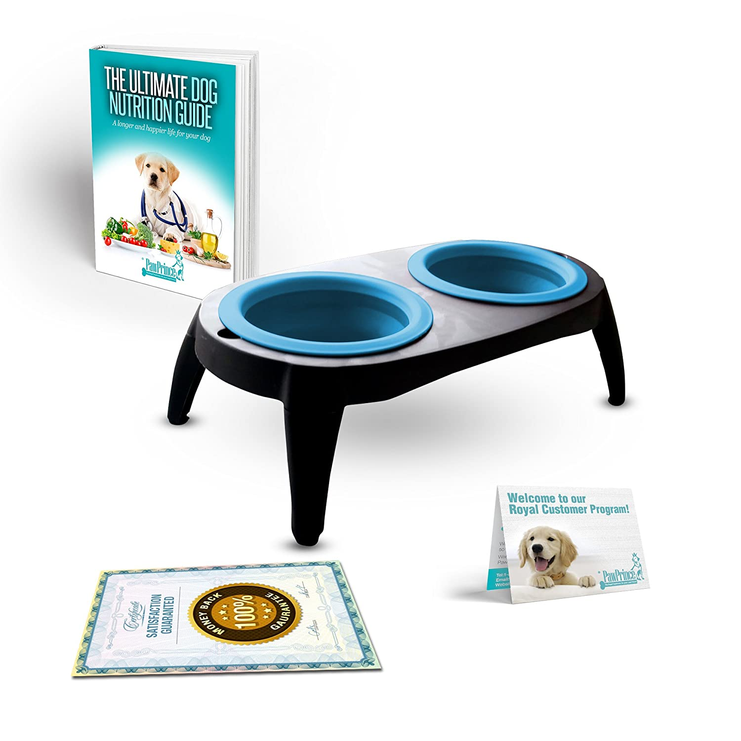 Portable Raised Dog Bowls Feeder Cat Collapsible Stand