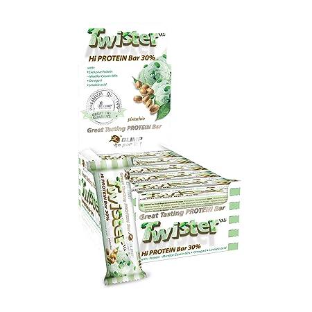 Olimp Twister Protein Riegel Pistazie, 24 x 60 g, 1er Pack (1 x 1.4 kg Packung)