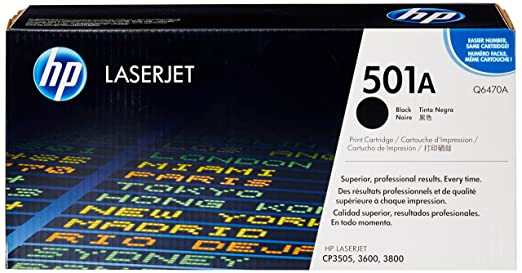 HP Q6470A - Tóner HP 501A LaserJet, negro