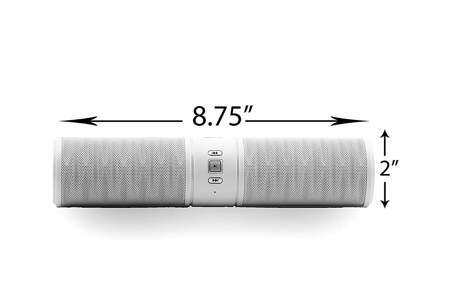Wireless Bluetooth Speaker, Roll (White) Ultra-portable , Powerful Sound with Build in Microphone, Works for Iphone 4, 4s, 5, 5s, 6, 6 Plus, Ipad Mini, Ipad 4/3/2, Itouch, Blackberry, Nexus, Samsung, Htc, Lg and Other Smart Phones, Tablets and Mp3 Player матовое защитное стекло ainy для apple iphone 7 plus