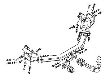 Anhängerkupplung starr Für Hyundai i30 II GD 5-Tür ab 2012+E-SATZ 7p UNIVERSAL