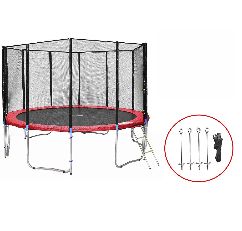 SB-430-RA-12NS Gartentrampolin 430cm incl. Netz, Leiter & Bodenanker Set , 180kg Traglast jetzt bestellen