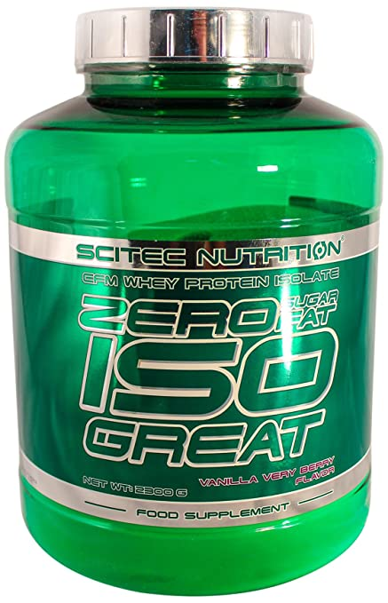 Scitec Nutrition Zero sugar/Zero fat isogreat Vanille Very Berry, 1er Pack (1 x 2.3 kg)