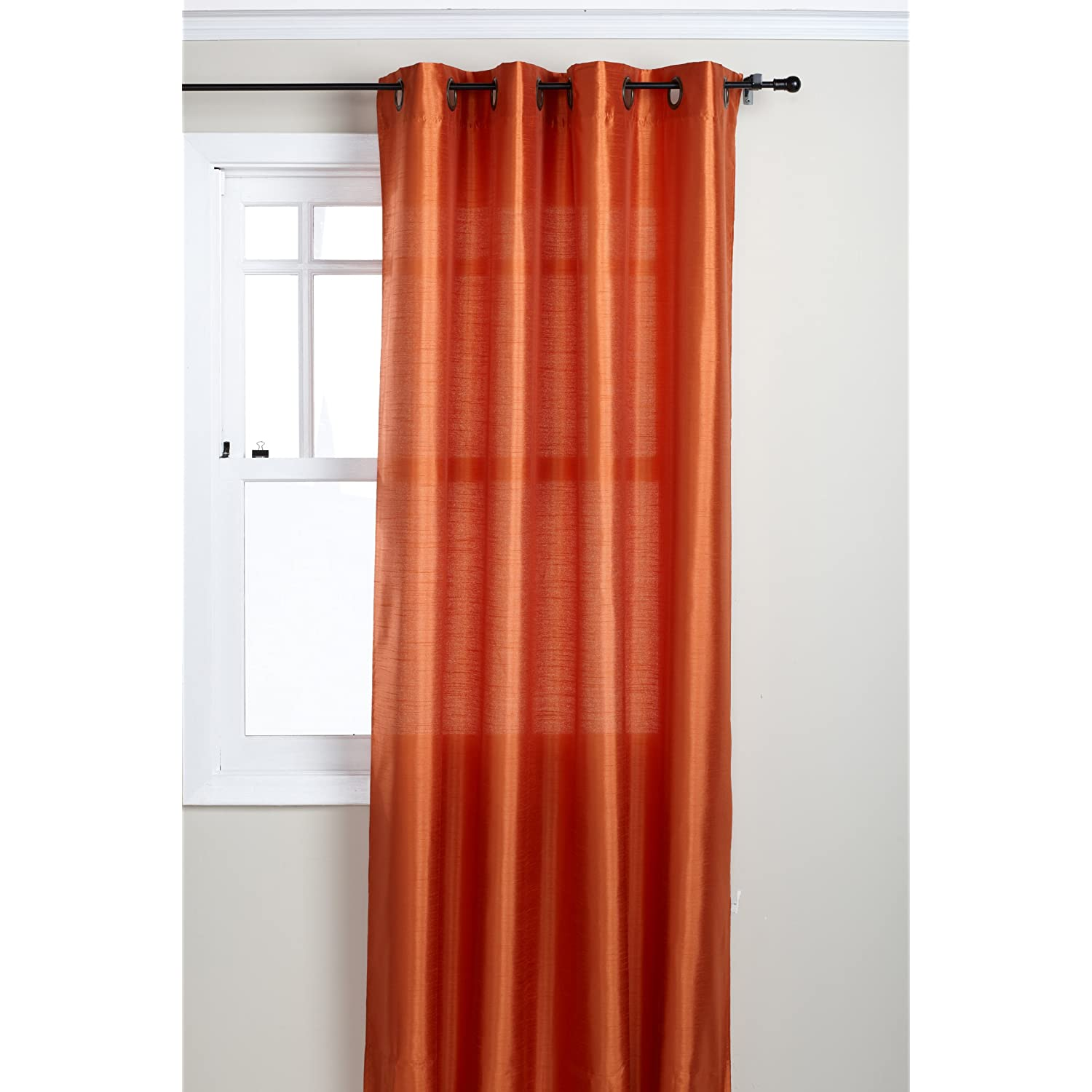 Faux silk interlined drapery panel in Curtains  Drapes - Compare