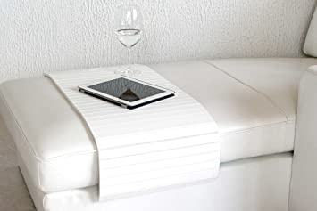 Sofatablett Holz Gross 80cm Ablage Tablett Weiss Fur Hocker Oder