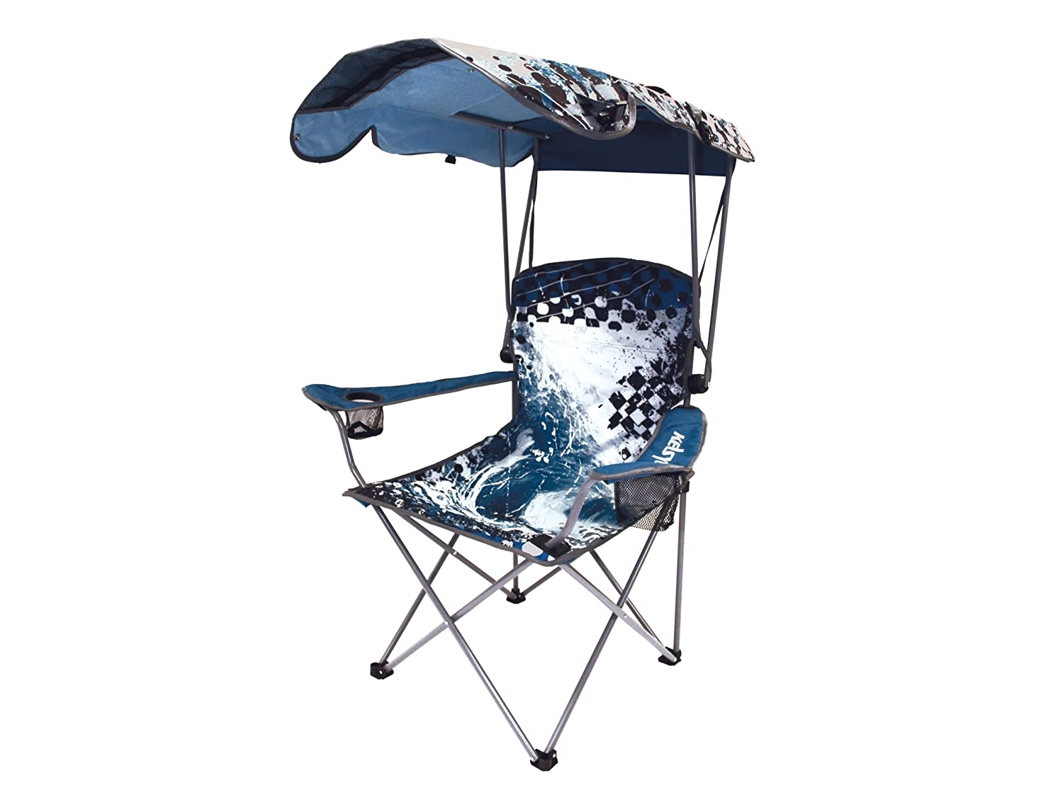 Portable Chair With Canopy : Wave original canopy chair blue portable beach shade