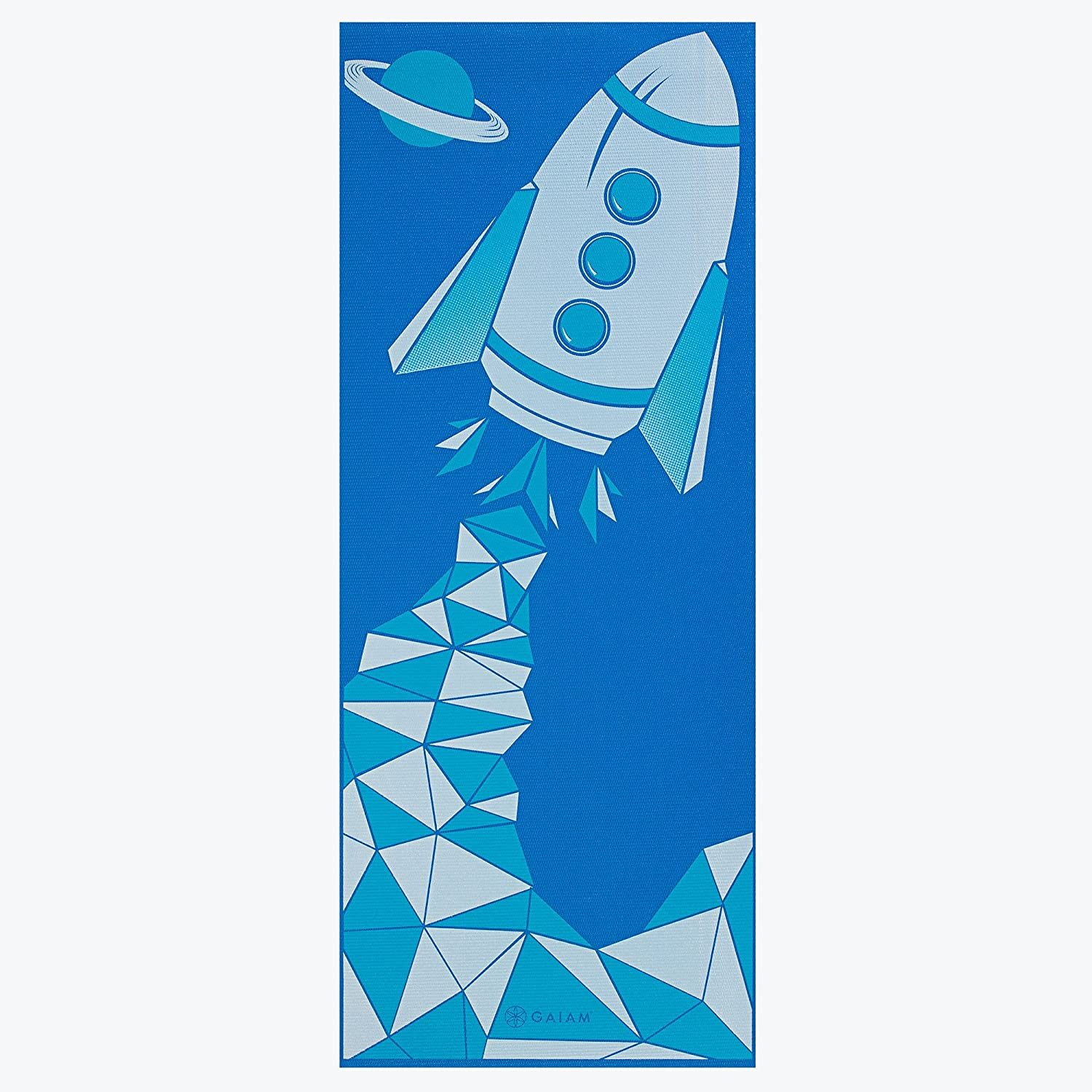 Gaiam Kids Yoga Mat Blue Rocket Amazon Lightning Deal