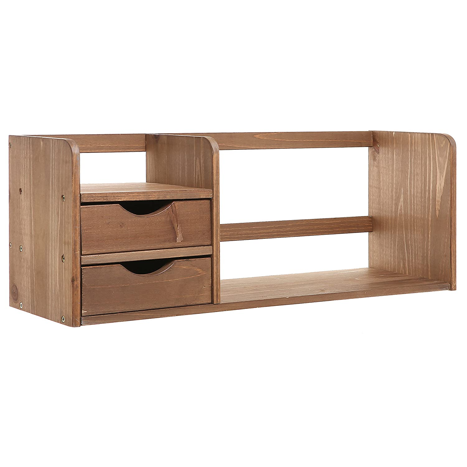 Marvelous photograph of Drawer Organizers R Decor Brown Wood Office Desk Drawer Organizer Home  with #8C5E3F color and 1500x1500 pixels