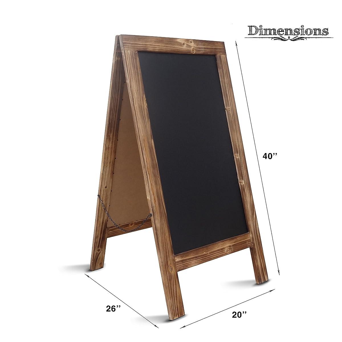"""Chalkboard Sign / Large 40"""" x 20"""" Sturdy Sandwich Board"""