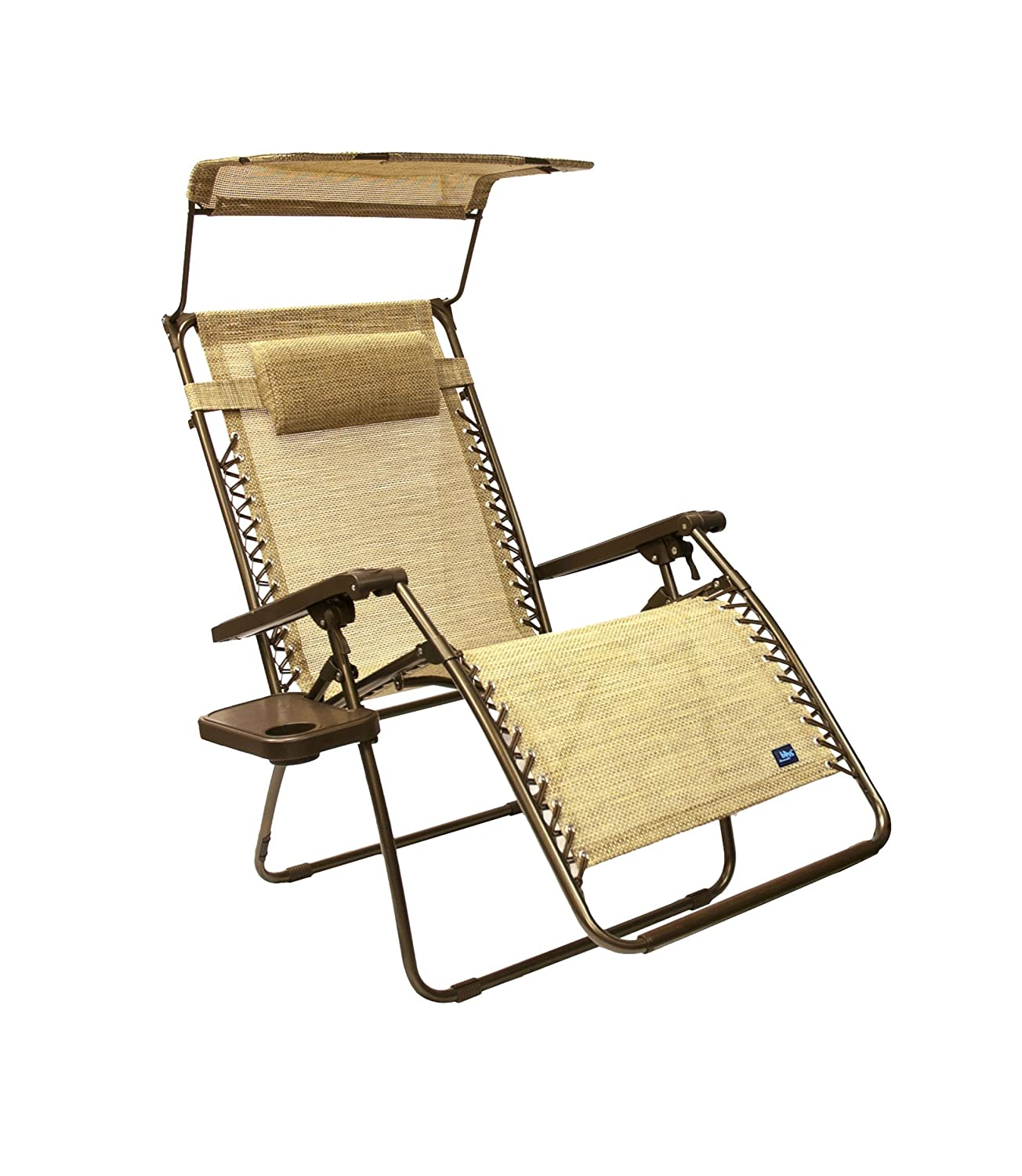 Bliss Hammocks Wide Gravity Free Lounger Chair with Pillow