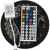 Kit de 300 LEDs RGB flexibles ADX 5050-RGB-LED-Strip SMD  16.4 pies resistente al agua con control remoto de 44 teclas