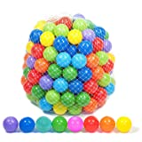 Playz 50 Soft Plastic Mini Play Balls w/ 8 Vibrant Colors - Crush Proof, No Sharp Edges, Certified Non Toxic, Phthalate & BPA Free - Use in Baby Toddler Ball Pit, Play Tents & Tunnels Indoor & Outdoor (Tamaño: 50)