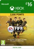 Xbox Live £16 Gift Card: FIFA 16 Ultimate Team [Xbox Live Online Code]