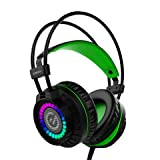 Element G G350 Gaming Headset for PS4, PC, Console Compatible (Virtual 7.1 + 40MM Sound Drive, RGB illumination) (Color: RGB, Tamaño: Virtual 7.1 + 40MM Sound Drive)