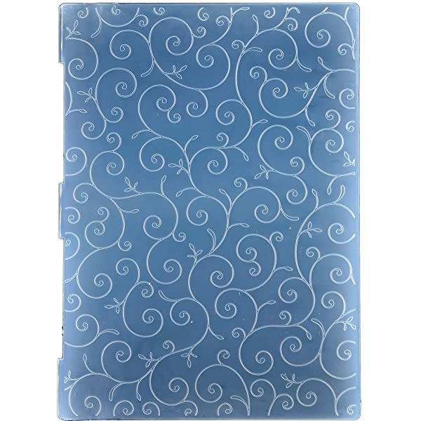 Kwan Crafts A4 Size Leaves Sprout Plastic Embossing Folders for Card Making Scrapbooking and Other Paper Crafts 29.7x21cm