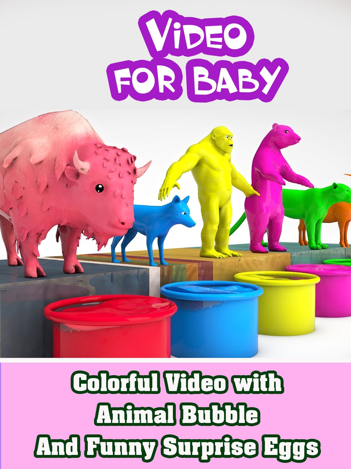 Colorful Video with Animal Bubble And Funny Surprise Eggs