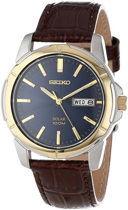 Seiko 精工 SNE102 Solar 男款太阳能腕表,$91.76
