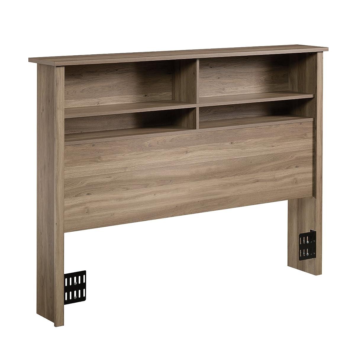 Sauder 419321 County Line Full/Queen Bookcase Headboard, Salt Oak Finish