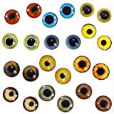 Bulk Lot 10mm Realistic Bird Glass Eyes Wholesale 12 Pairs Animal Taxidermy Cabochons for Jewelry or Craft Making (Color: brown, Tamaño: 10mm)