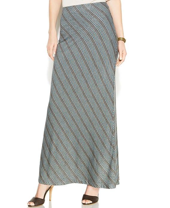 Studio M Colorblock Diagonal-Stripe Women's Maxi Skirt