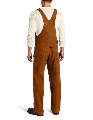 Carhartt Men's Sandstone Bib Overalls Unlined,Carhartt Brown,30 x 30 (Color: Carhartt Brown, Tamaño: 30W x 30L)