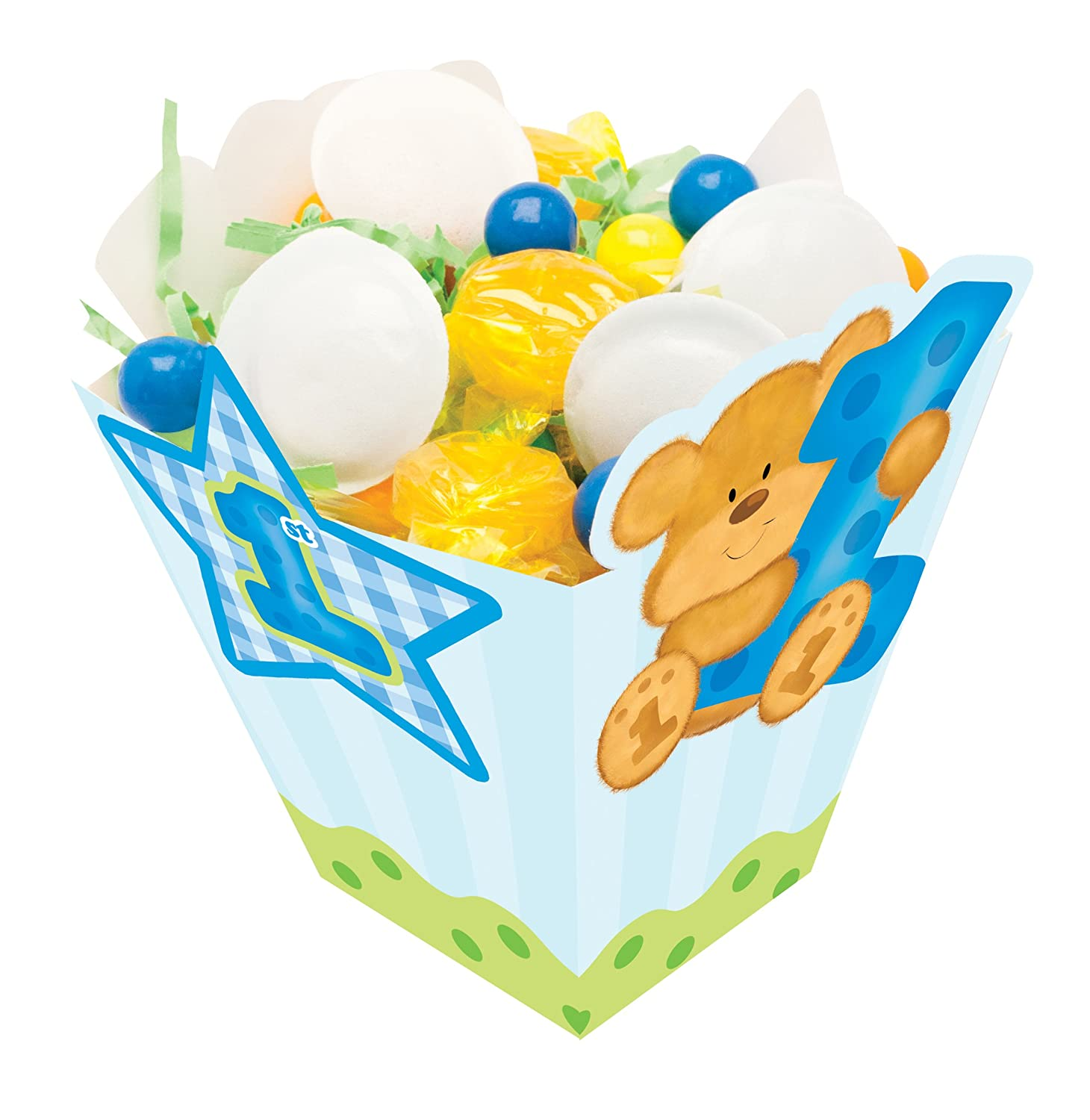 Boys First Birthday Party Favor Treat Boxes