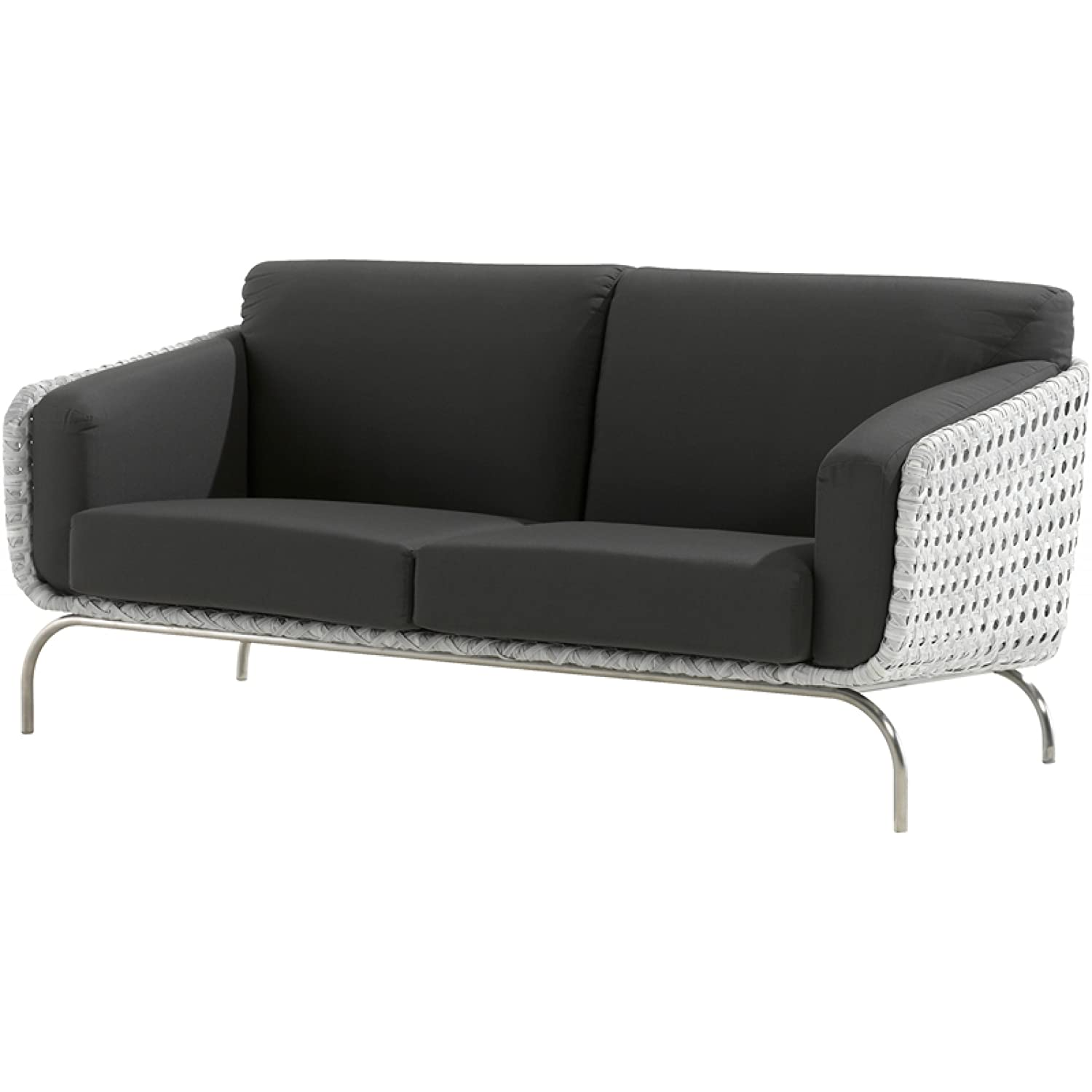 4Seasons Outdoor Luton 2.5-Sitzer Sofa Polyrattan pearl