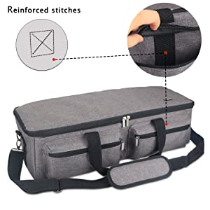 Luxja Bag for Silhouette Cameo 3, Carrying Case for Cutting Machine and Accessories, Compatible with Cricut Explore Air (Air2), Cricut Maker and Silhouette Cameo 3, Gray (Patent Pending) (Color: Gray, Tamaño: 22.5 x 8.75 x 7)