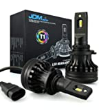 JDM ASTAR Newest Version T1 10000 Lumens Extremely Bright High Power 9006 All-in-One LED Headlight Bulbs Conversion Kit, Xenon White (Tamaño: 9006)