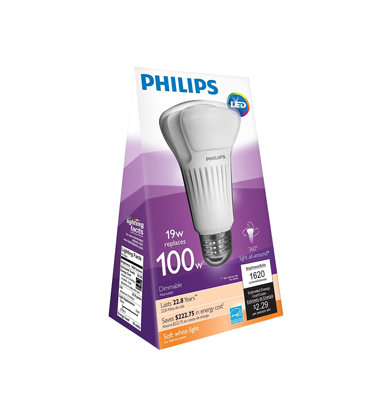 philips 451906 100 watt equivalent a21 led light bulb soft. Black Bedroom Furniture Sets. Home Design Ideas