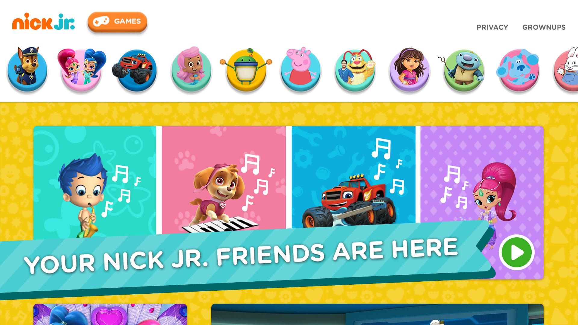 Nick Jr Games