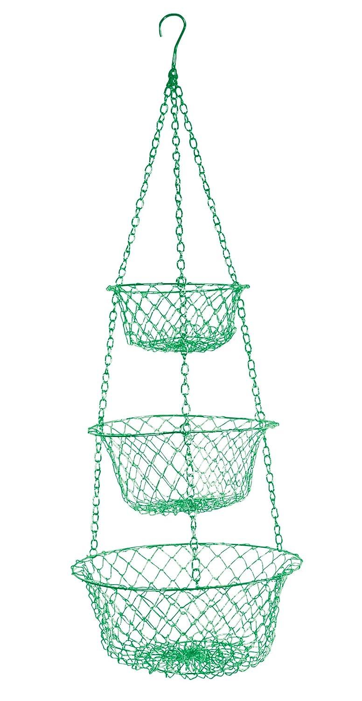 Fox Run 3 Tier Hanging Vegetable Fruit Kitchen Storage Wire Basket Green Ebay