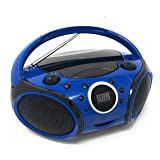SINGING WOOD CD, CD-R/RW Boombox Portable/w Bluetooth Player AM/FM Radio Aux Input, Headset Jack, Foldable Carrying Handle (Starlight Blue) (Color: Starlight Blue)
