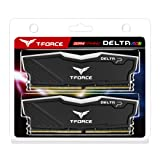 TEAMGROUP T-Force Delta RGB DDR4 16GB (2x8GB) 3000MHz (PC4-24000) CL16 Desktop Memory Module ram (Black) (Color: Black)