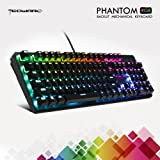 TECWARE Phantom 104 Mechanical Keyboard, RGB LED, Outemu Brown Switch, Extra Switches Provided, Excellent for Gamers (Color: RGB LED 104, Brown switch)