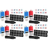 Stamp-Ever 10-in-1 Teachers' Student Work Stamp Kit, 10 Interchangable Self-Inking Stamps, 5/8-Inch Impression, Blue/Red (4630) (Pack 4) (Tamaño: Pack 4)