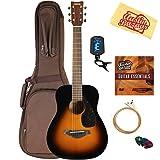 Yamaha JR2 Junior-Size 33-Inch Acoustic Guitar - Tobacco Sunburst Bundle with Gig Bag, Tuner, Strings, String Winder, Picks, Austin Bazaar Instructional DVD, and Polishing Cloth (Color: Sunburst, Tamaño: JR2)