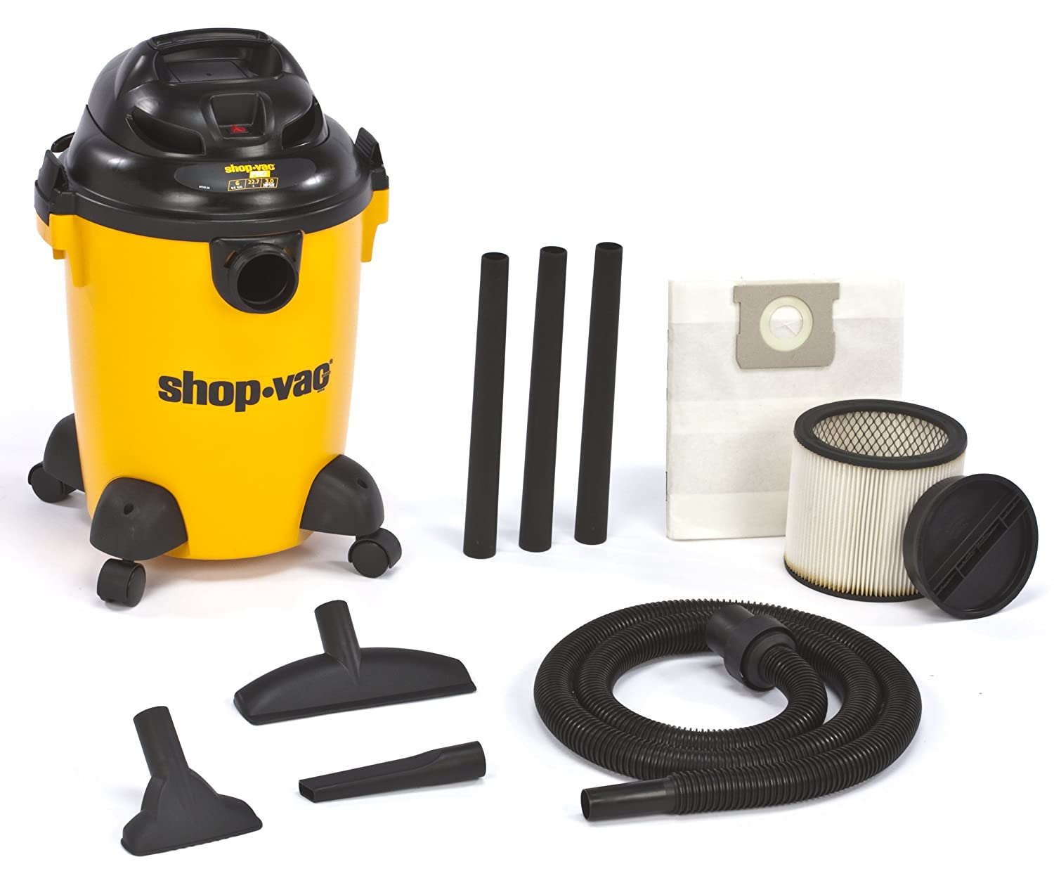 Shop-Vac 9650600 3.0-Peak HP Pro Series Wet or Dry Vacuum, 6-Gallon $59.99