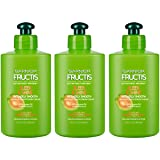 Garnier Fructis Sleek & Shine Intensely Smooth Leave-In Conditioning Cream, 10.2 Fl. Oz. (Packaging May Vary), 3 Count (Color: Sleek & Shine, Tamaño: 3 Count)