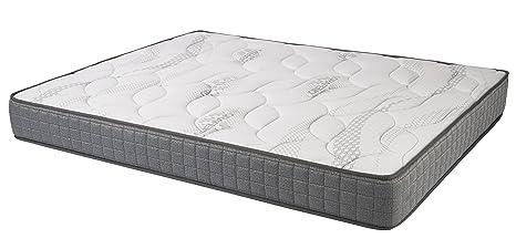 Stock option Toulousse–Matelas polyuréthane, coton, 190x 135x 19cm, couleur gris