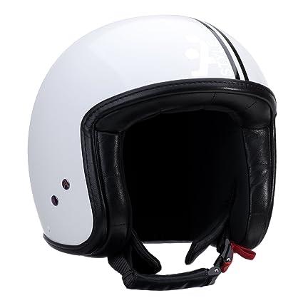 A-style 0500002S casque jet blanc/noir