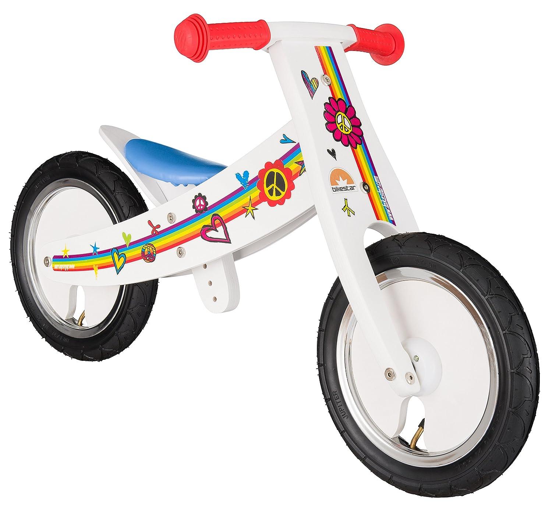 BIKESTAR® Mitwachsendes Kinderlaufrad für sichere und sorgenfreie Spielfreude ab 2 Jahren ★ 12er Natur Holz Edition ★ Traumhaft Weiß jetzt kaufen