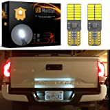 LED Monster 2x 168 194 T10 5SMD LED Bulbs Car License Plate Lights Lamp White 12V (24 SMD) (Color: White, Tamaño: 24 SMD)