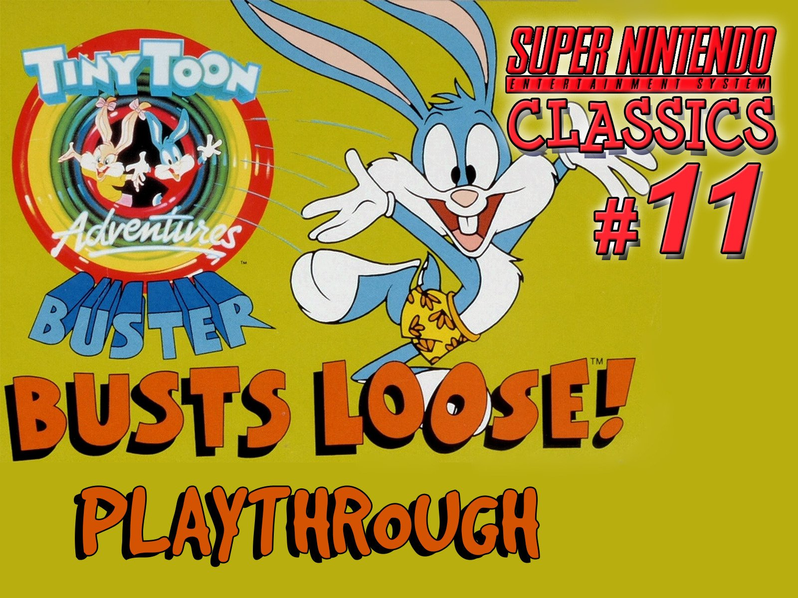Clip: Tiny Toon Adventures Buster Busts Loose Playthrough (SNES Classics 11) - Season 1
