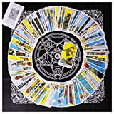 Tarot Card Deck, Tarocchi Tarotology Universal Waite Tarot Divination, A Divining Tablecloth with A Spirit Pendulum , 3PCS (Color: Multi, Tamaño: 5.5*7.5*1.96)