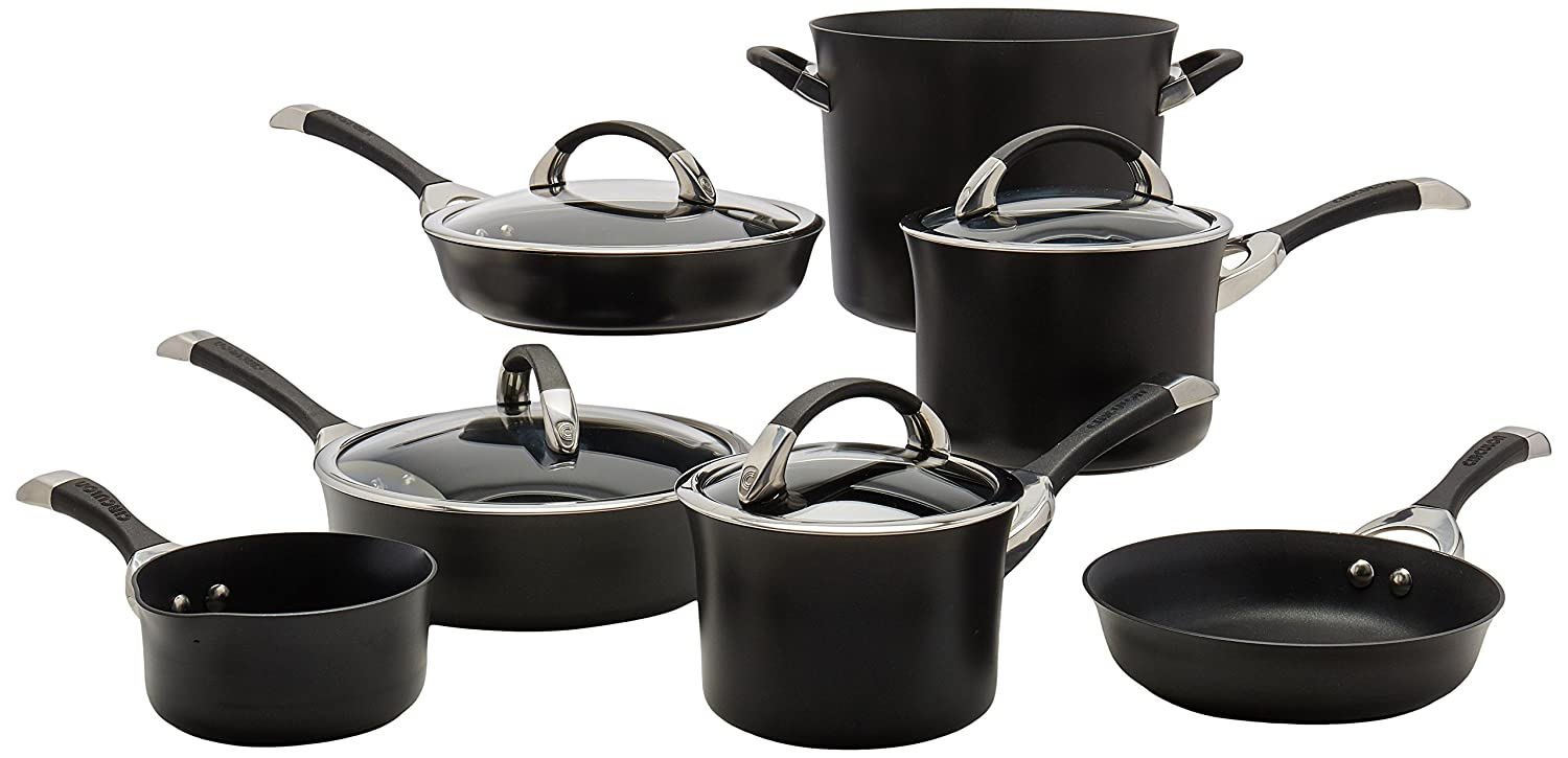 Circulon Symmetry Hard Anodized 11-piece Cookware Set