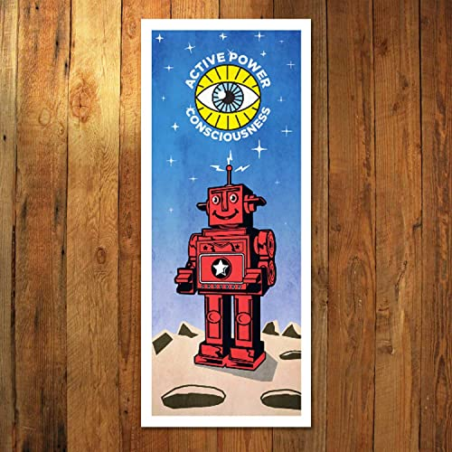 Vintage Tin Toy Retro Robot Poster Art Print