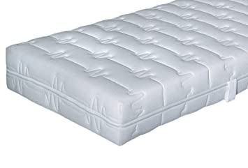 Comfort Tonnentaschenfederkern-Matraze Hn8 Magic Clean, 7 Zonen, Federkern + Kaltschaum - Grösse 180x200 - Härtegrad H3